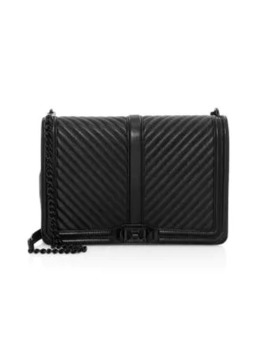 Jumbo Love Chevron Quilted Leather Crossbody Bag by Rebecca Minkoff