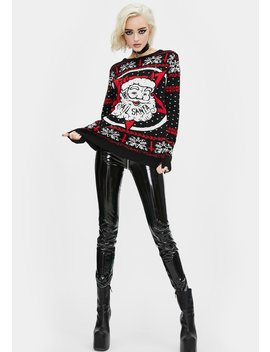 Hail Santa Christmas Sweater by Too Fast