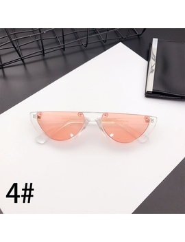 2018 Sexy Women Round Style Glasses Semicircle Cool Small Cat Eye Sunglasses Fashion Uv Protection Glasses Eyewear Gifts Gafas Del Sol by Wish