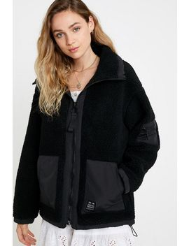 Uo Wallace Oversized Fleece Jacket by Urban Outfitters