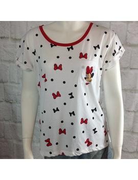 Disney Minnie Mouse Polka Dot Short Sleeve T ShirtNwt by Disney