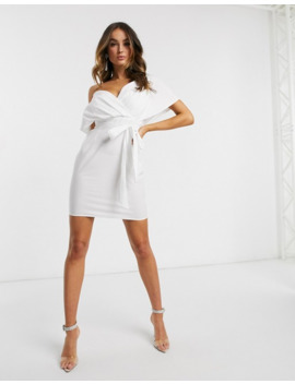 Asos Design Cotton Fallen Shoulder Mini Dress by Asos Design