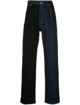 Two Tone Straight Jeans by Maison Margiela
