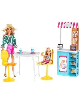 Barbie And Chelsea Gelato Café Playset by Smyths