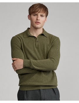 Washable Cashmere Polo Jumper by Ralph Lauren