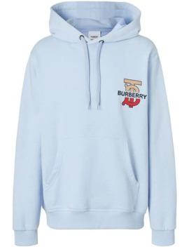 Monogram Motif Hooded Sweatshirt by Burberry
