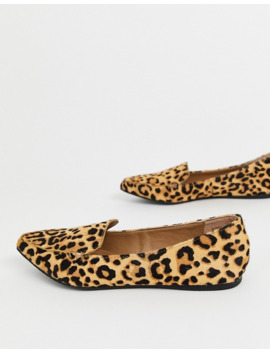 Steve Madden Feather Flat Shoes In Leopard Print by Steve Madden