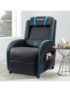 Homall Gaming Recliner Chair With Pu Leather, Black/Blue by Homall