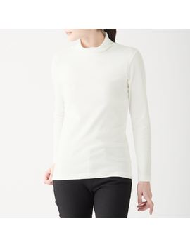 Stretch Rib Stitch Turtle Neck T Shirt by Muji