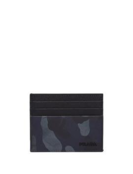 Saffiano Camouflage Card Holder by Prada