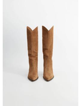 Skinnstövlar Klack by Mango