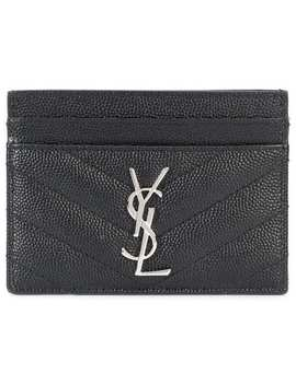 Quilted Logo Cardholder by Saint Laurent