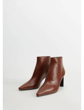 Boots Med Spetsig Klack by Mango