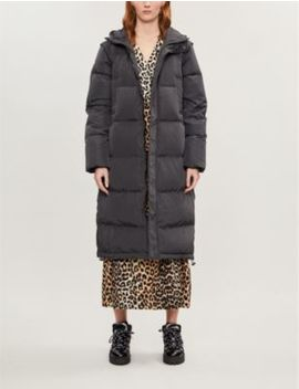 Longline Quilted Shell Down Jacket by Ganni