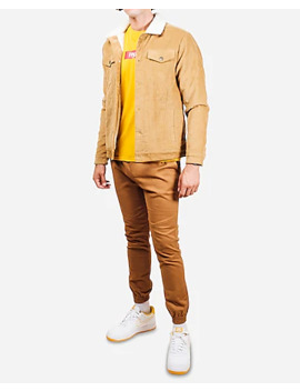 Brooklyn Cloth Tan Corduroy Sherpa Jacket by Express