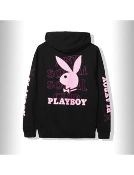 Ds Anti Social Social Club X Playboy Black Hoodie S K Koc H by Playboy  ×  Anti Social Social Club  ×