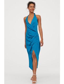 Vestido Halter De Satín by H&M