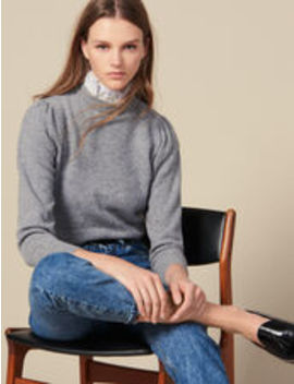 Sweater With Lace Collar by Sandro Eshop