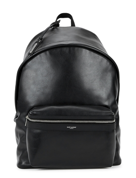 Black Leather Backpack by Saint Laurent