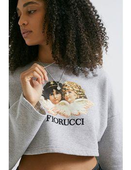 Fiorucci Vintage Angles Grey Cropped Crew Neck Sweatshirt by Fiorucci Vintage Angels Shoppen