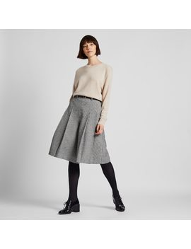Jupe Culotte Taille Haute Tweed Femme by Uniqlo