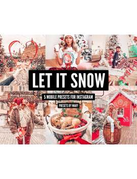 5 Mobile Lightroom Presets   Let It Snow, Instagram Presets, Blogger Presets, Lightroom Mobile Preset, Warm Presets, Winter Presets by Etsy