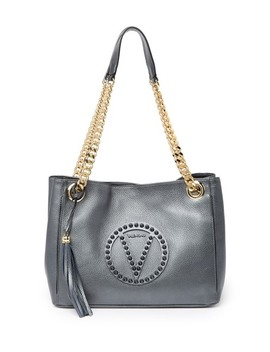 Luisa Rock Studded Leather Shoulder Bag by Valentino By Mario Valentino