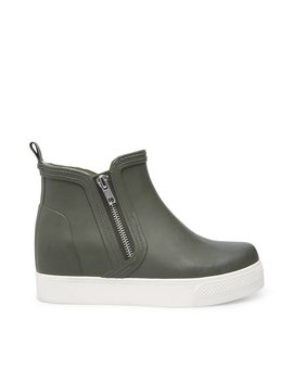 Wedgie Rainboot Olive by Steve Madden