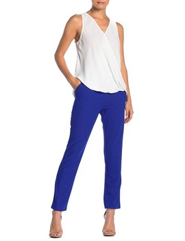 High Waisted Straight Leg Trousers by Lush