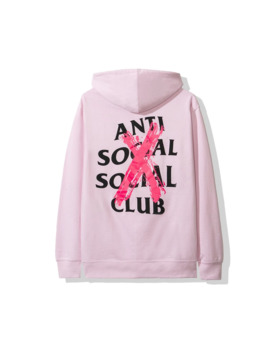 Anti Social Social Club Cancelled Pink Hoodie Assc Ds by Anti Social Social Club  ×