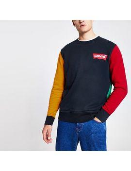 Levi's Navy Colour Block Sweatshirt by River Island