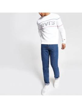 Levi's White Reflective Sweatshirt by River Island