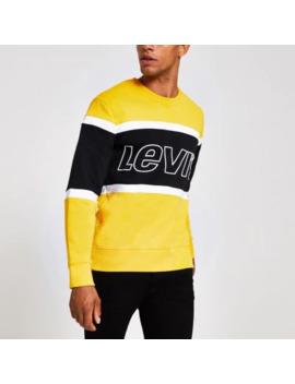 Levi's Yellow Block Logo Sweatshirt by River Island