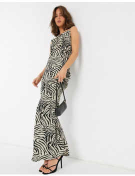 Pretty Lavish Maxi Cami Dress In Zebra Print by Pretty Lavish
