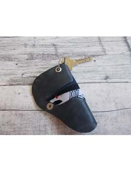 Personalized Leather Key Holder, Leather Keychain, Fishing, Fisherman, Key Chain, Shark, Key Cover, Key Pouch, Leather Keychain, Key Cover by Etsy
