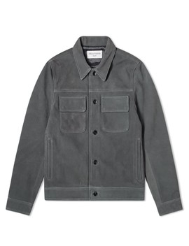 Officine Generale Otto Unlined Suede Jacket by Officine Generale