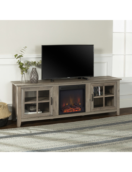 """Manor Park Modern Farmhouse Fireplace Tv Stand For Tv's Up To 78""""   Grey Wash by Manor Park"""