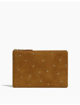 The Suede Pouch Clutch: Embroidered Dot Edition by Madewell