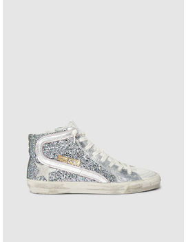 High Top Glitter Leather Sneakers by ‎Golden Goose Deluxe Brand‎