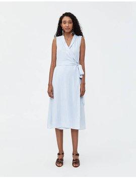 Susie Wrap Dress In Pale Blue by Stelen Stelen
