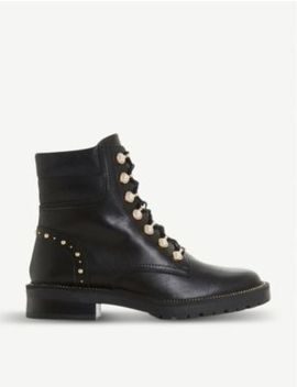 Pearley Embellished Leather Hiking Boots by Dune