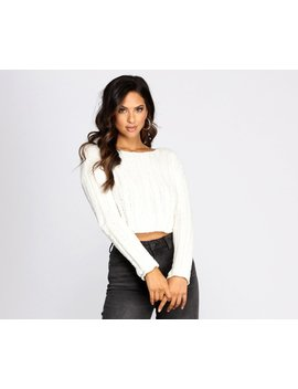 Treat Yourself Chenille Cropped Sweater by Windsor