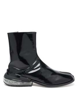 Tabi Bounce Split Toe Leather Boots by Maison Margiela