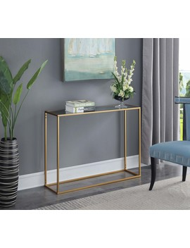 Convenience Concepts Gold Coast Mirrored Console Table by Convenience Concepts