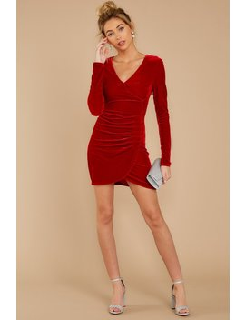 It's Just A Crush Red Velvet Dress by Flying Tomato