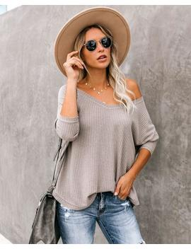 Between Us Thermal Knit Top   Portabella by Vici