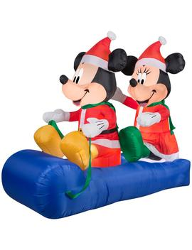 5 Ft. Inflatable Mickey And Minnie's Sled Scene by Disney
