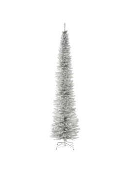 9ft. Unlit Sliver Tinsel Artificial Christmas Tree by National Tree Company