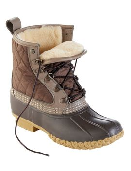 """Women's Limited Edition L.L.Bean Boots, 8"""" Shearling Lined by L.L.Bean"""