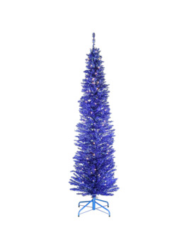 6ft. Pre Lit Blue Tinsel Artificial Christmas Tree by National Tree Company